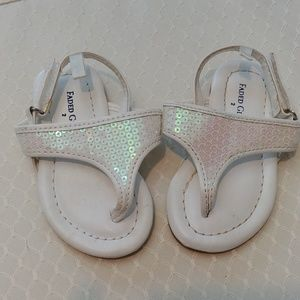 Faded Glory White Sequin Sandals
